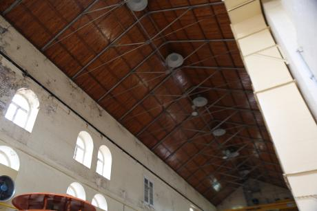 Ceiling of the historic Pump Station building