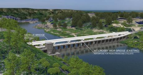 New vehicle bridge - artist impression #1