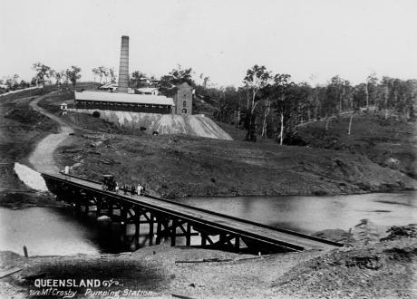 Pumping Station At Mount Crosby 1892 State Library of Queensland