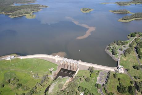 Aerial of North Pine Dam