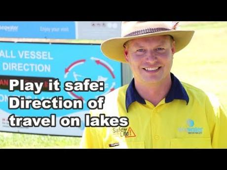 Play it safe: Direction of travel on water