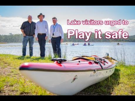 Lake visitors urged to play it safe