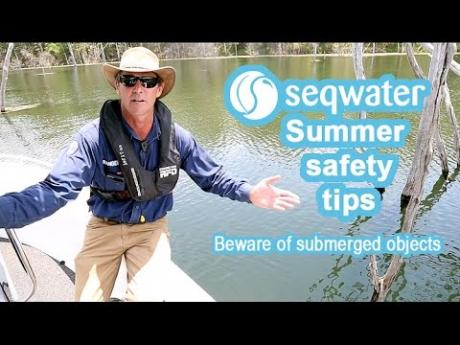 Seqwater Summer Safety Tips: Beware of submerged objects