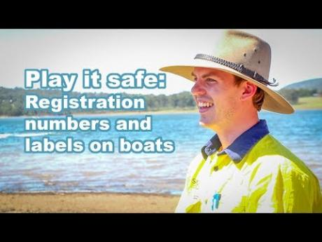 Play it safe: Registration numbers and labels on boats