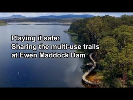 Playing it safe: Sharing the multi-use trails at Ewen Maddock Dam