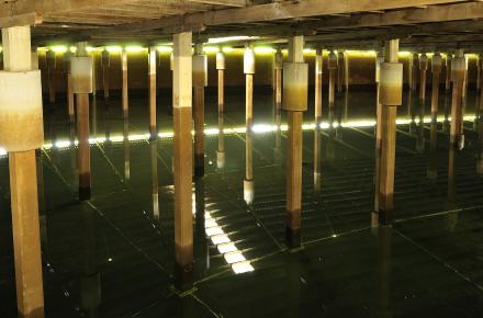 Inside the reservoir, Sparkes Hill Reservoir 1, Stafford.jpg