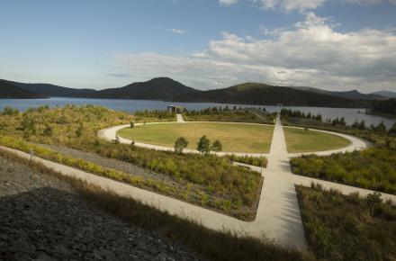 Overlooking Waterside Park at Hinze Dam