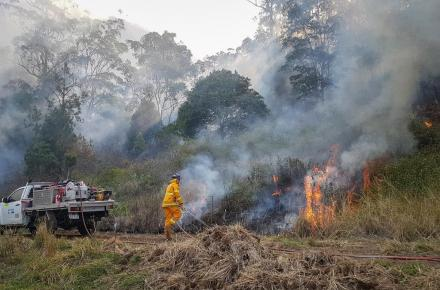 Seqwater Fire Officers work to manage the impact of a bushfire at Numinbah Valley 3.jpg