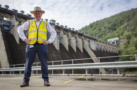 Seqwater CEO Neil Brennan at Somerset Dam