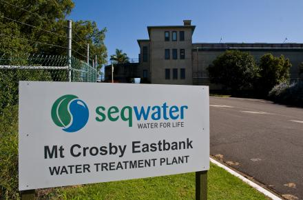 Mt Crosby East Bank WTP entrance
