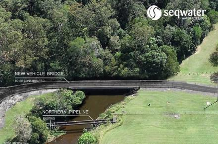 Artist impression of the new Noosa Water Treatment Plant Bridge