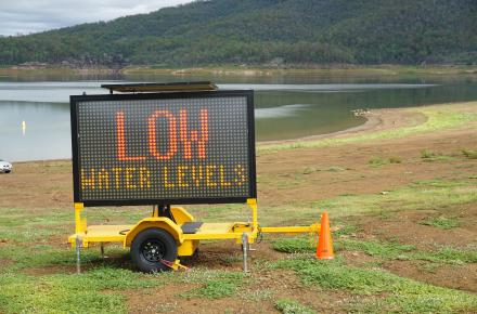 Low water levels at Lake Moogerah