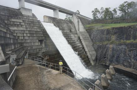 The majority of recent rain fell on the Gold Coast with the Hinze Dam catchment receiving more than 470mm of rain
