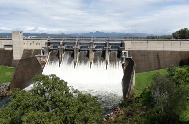 Gated releases from North Pine dam